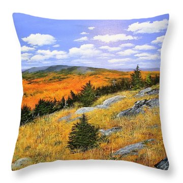 Throw Pillow featuring the painting Autumn Vista by Ken Ahlering