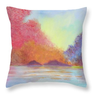 Autumn's Aura Throw Pillow