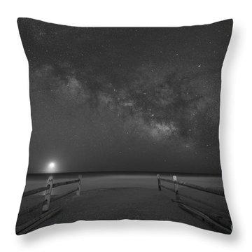 Avalon New Jersey Milky Way Rising  Throw Pillow