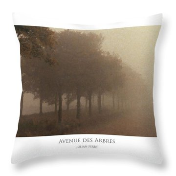 Throw Pillow featuring the digital art Avenue Des Arbres by Julian Perry