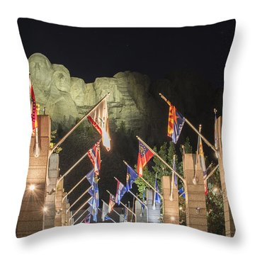 Avenue Of Flags Throw Pillow by Juli Scalzi