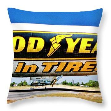 My Goodyear Blimp Ride Throw Pillow