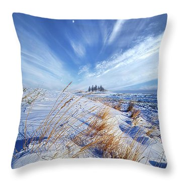 Throw Pillow featuring the photograph Azure by Phil Koch