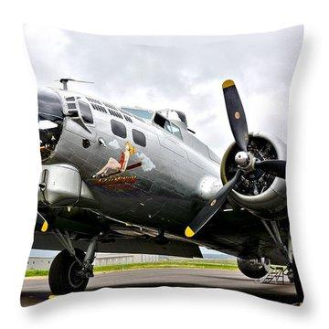 B-17 Bomber Airplane  Throw Pillow