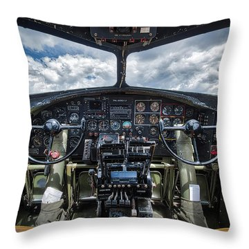 B-17 Flying Fortress  Throw Pillow