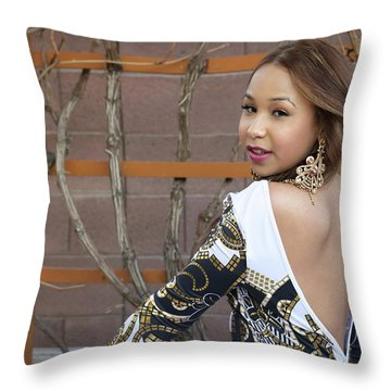 Baby Back Cathy Throw Pillow