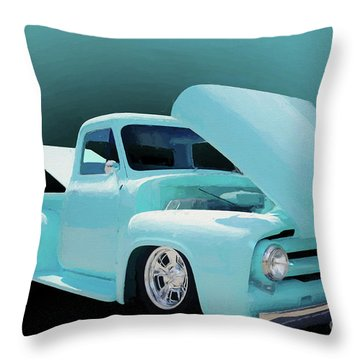 Throw Pillow featuring the photograph Baby Blue 2 by Jim  Hatch