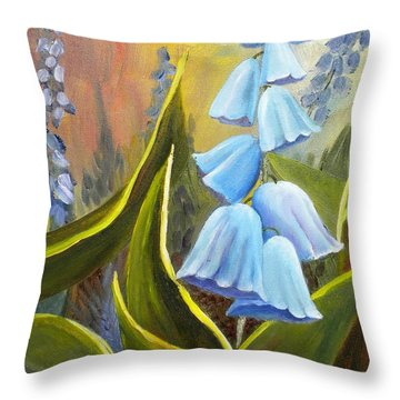 Baby Blues Throw Pillow by Renate Nadi Wesley