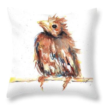 Baby Cardinal - New Beginnings Throw Pillow
