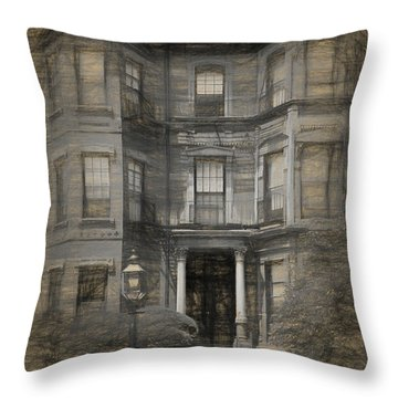 Back Bay Boston Throw Pillow