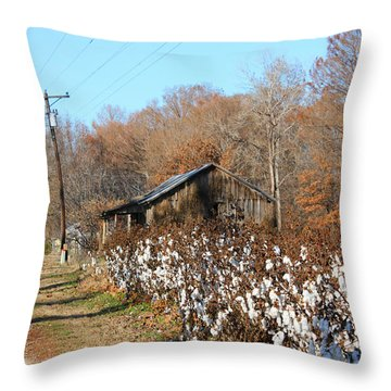 Back Roads Of Ms Throw Pillow