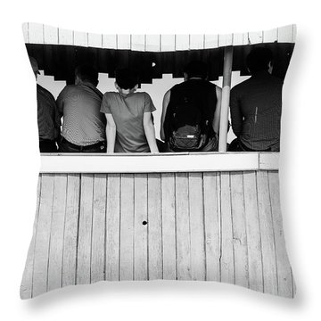 Throw Pillow featuring the photograph Back To Backs by John Williams