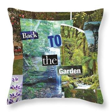 Back To The Garden Throw Pillow