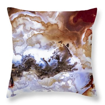 Backlit Agate Throw Pillow