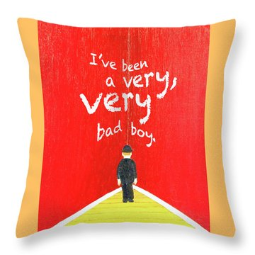 Bad Boy Greeting Card Throw Pillow