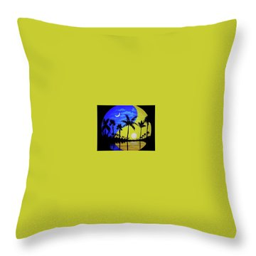 Badmoon Throw Pillow