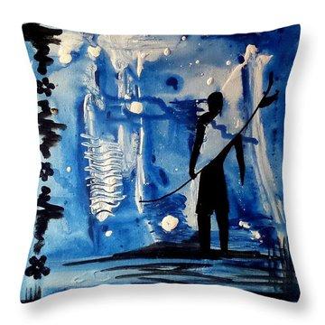 Badsurfer  Throw Pillow