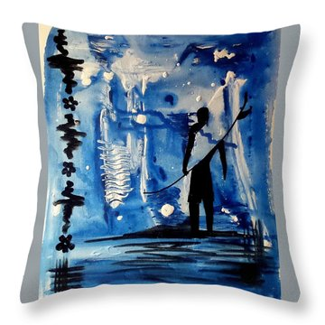 Badsurfer  Throw Pillow
