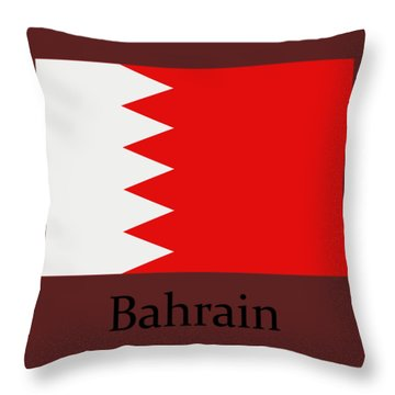 Bahrain Flag Throw Pillow