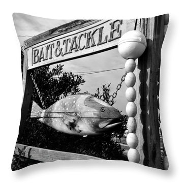 Bait And Tackle Throw Pillow by David Lee Thompson