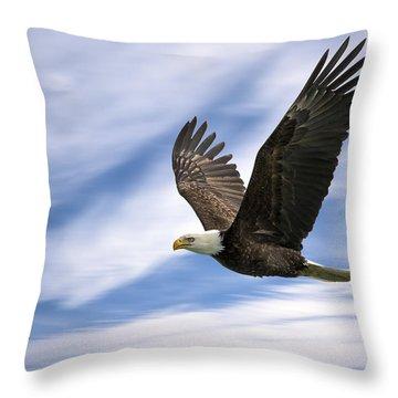 Bald Eagle - 365-12 Throw Pillow