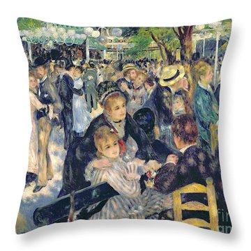 Ball At The Moulin De La Galette Throw Pillow