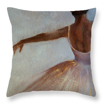 Ballerina  Throw Pillow