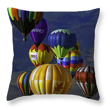 Balloons Over Reno Throw Pillow