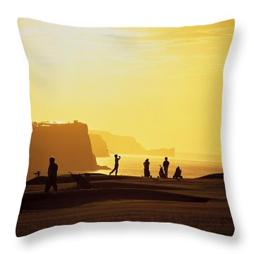 Ballycastle Golf Club, Co Antrim Throw Pillow by The Irish Image Collection