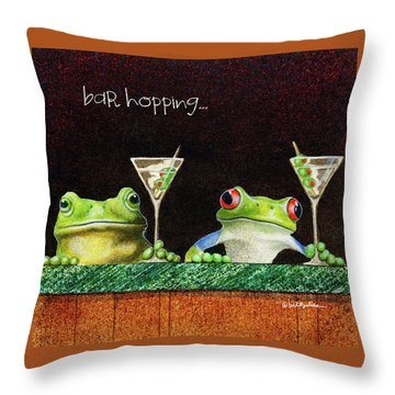 Bar Hopping... Throw Pillow