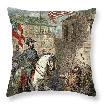Barbara Frietschie Throw Pillow by Granger