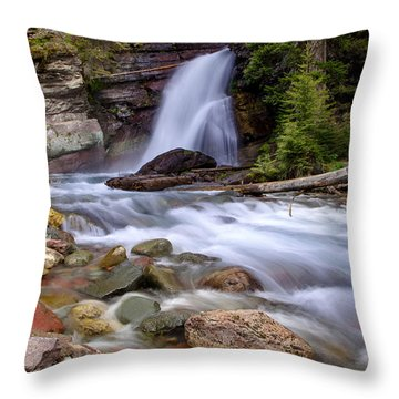 Baring Falls Throw Pillow by Jack Bell
