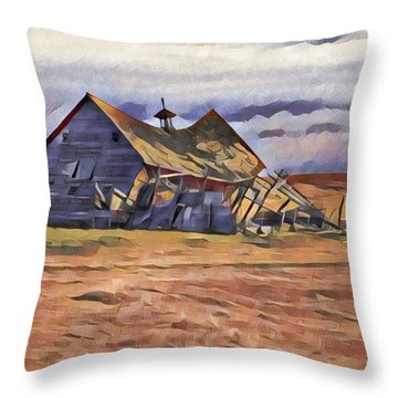 Barn Down Throw Pillow