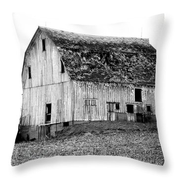 Barn On The Hill Bw Throw Pillow by Julie Hamilton