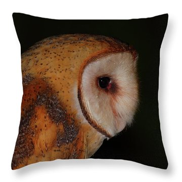 Barn Owl Profile Throw Pillow