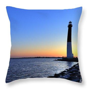 Barnegat Lighthouse Throw Pillow by John Greim