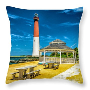 Throw Pillow featuring the photograph Barnegat Lighthouse Park by Nick Zelinsky