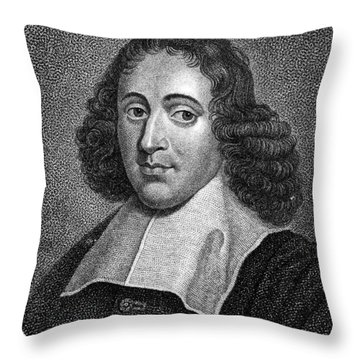 Baruch Spinoza (1632-1677) Throw Pillow by Granger