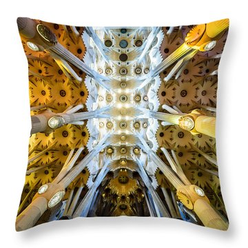Basilica De La Sagrada Familia Throw Pillow