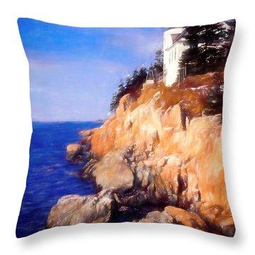 Bass Harbor Lighthouse,acadia Nat. Park Maine. Throw Pillow