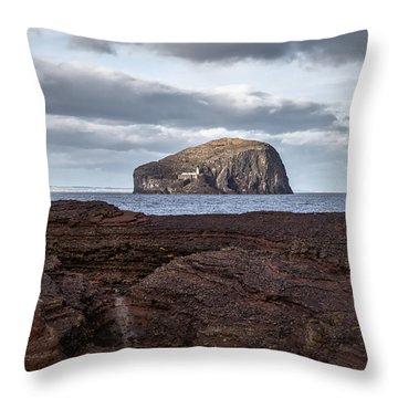 Bass Rock Throw Pillow