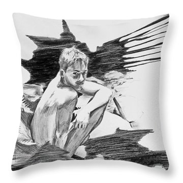 Throw Pillow featuring the painting Bathed In White Light by Rene Capone
