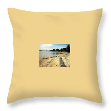 Throw Pillow featuring the photograph Bathing Beauty by Desline Vitto