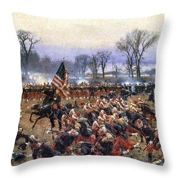 Battle Of Fredericksburg - To License For Professional Use Visit Granger.com Throw Pillow