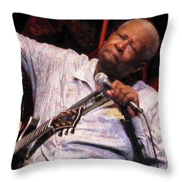 B.b. King Throw Pillow by April Sims