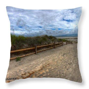 Beach Access Throw Pillow by John Loreaux