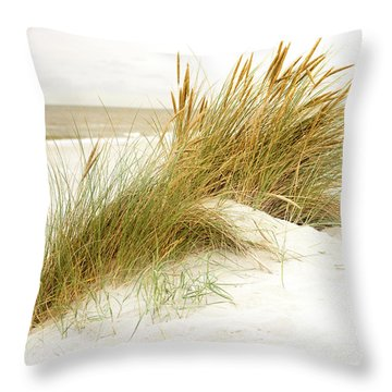 Throw Pillow featuring the photograph Beach Grass by Hannes Cmarits