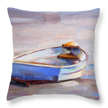 Beach Puddles Throw Pillow