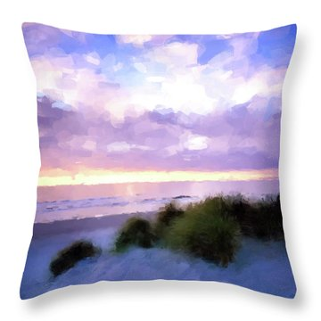 Beach Sawgrass Throw Pillow