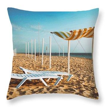 Beach Shader Throw Pillow by Carlos Caetano